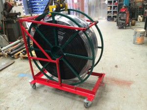 Plastic wire reel
